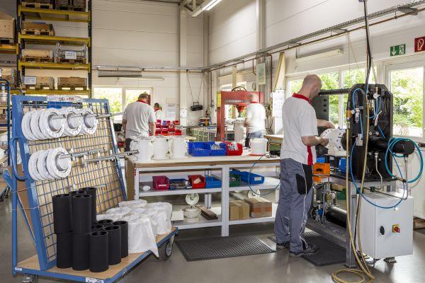 AKO Pinch Valves warehouse