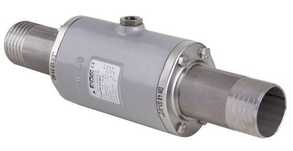 VMC Type pinch valve with SAS threaded hose nozzle