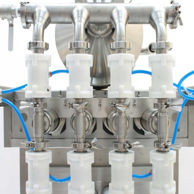 air flow valves used on a plant bottling sauces