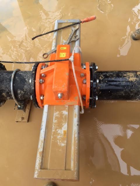 pneumatic shutoff valve for waste water