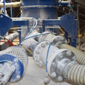 quick closing valve for pvc powder