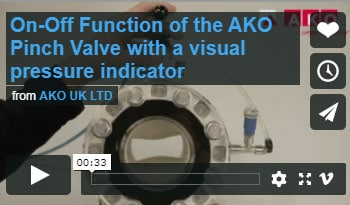 On-Off Function of the AKO Pinch Valve