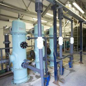 industrial filtering plant room