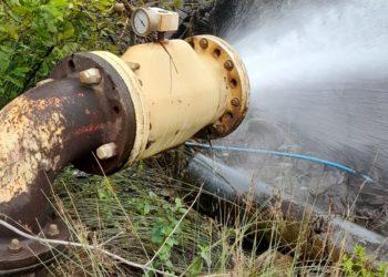 pressure relief pinch valve preventing pipe bursting