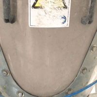 silica hopper with aerator pads